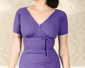 FABULOUS 1940s PURPLE day dress