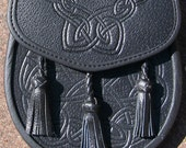 All Leather Embossed DaySsporran
