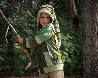 "AVAILABLE NOW Boys Gypsy Coat  ""The Tree Top Elf""    Childrens Size 4"