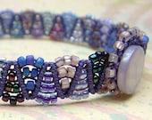 Deep Purples Macrame Bracelet