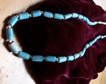 Clay fired beads from North Africa 12 inch strand