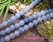 Blue Aventurine 4mm Gemstone Round Beads