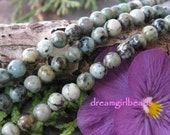 African Turquoise 4mm Semi Precious Round Beads