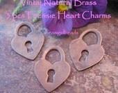Too Cute Vintaj 6 pc Heart Charms
