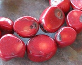 Red Coral Chunky Nuggets 10 PC