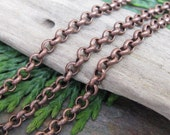 3FT Matte Antique Copper 2mm Fine Chain