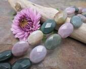 Fancy Jasper Semi Precious Faceted 10x14mm Beads