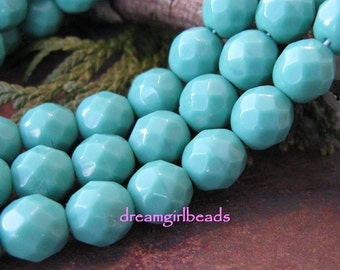Tantalizing Turquoise 6mm Czech Glass Beads