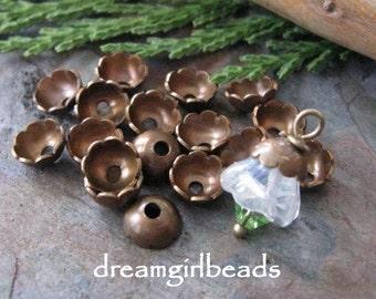 Vintaj Natural Brass 6mm Scalloped Bead Caps 12 PC