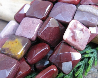 Moukaite Jasper Faceted Gemstones