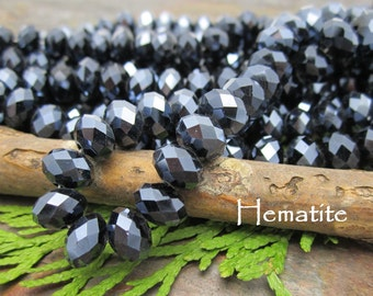 Dream Girl Designer Crystals Hematite 8x5mm