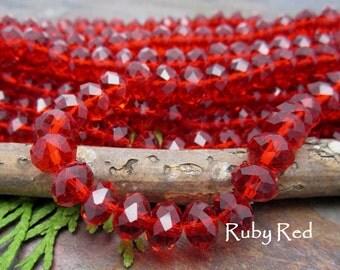 Dream Girl Designer Crystals Ruby Red 8x5mm