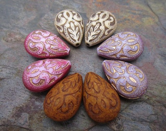 8 PC Royal Damask Bead in your color choice