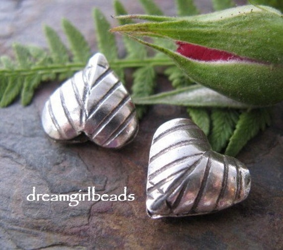 2 Hill Tribe Silver Puff Hearts