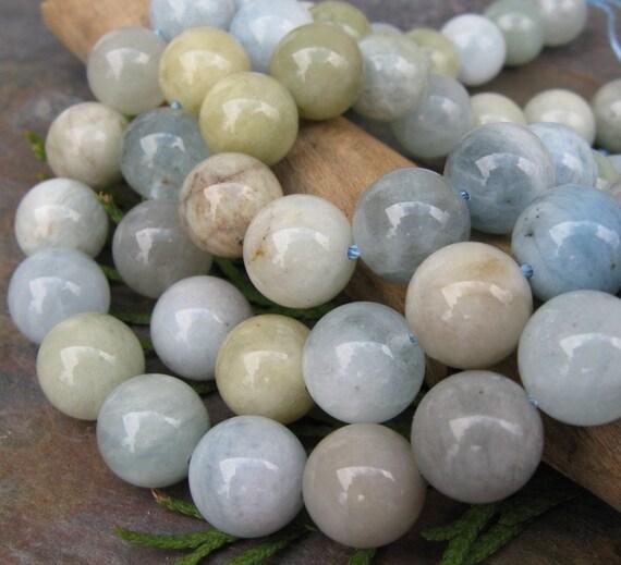 Awesome Aquamarine 10 mm Semi Precious Beads