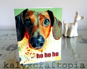 Set of 5 Dachshund Ho Ho Ho Woofy Christmas Cards