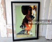 Low Five Dachshund Poster Art  Print