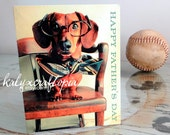 Father's Day Card Dachshund Blank Inside