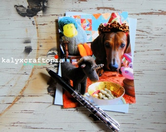 O Happy Day Birthday Announcement Congratulations Dachshund Card