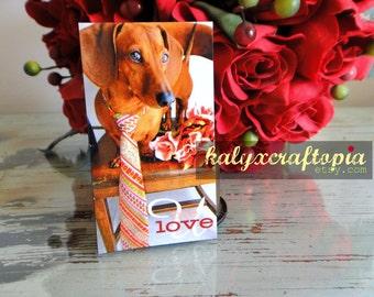 Magnet Dachshund Greeting Me Love U Valentine Anniversary