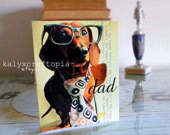 Father's Day Card - Little Mad Man Dachshund