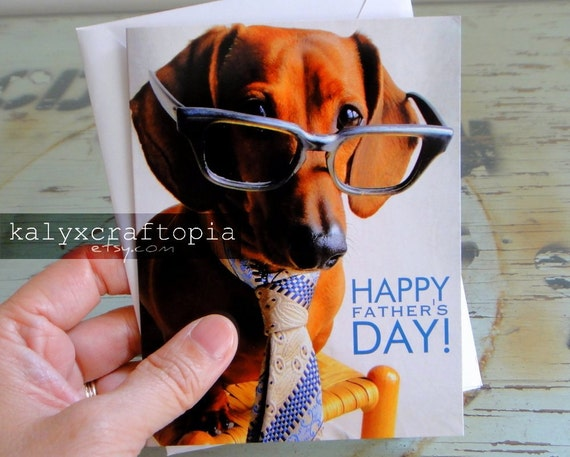 Best Dad Ever Father's Day Greeting Card - Mad Men Dachshund