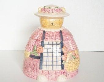 Vintage Ceramic Bear Cookie Jar