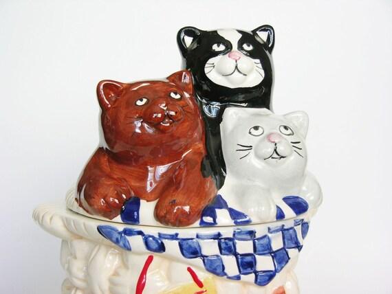 Adorable Free Kitten VINTAGE Collectible COOKIE JAR