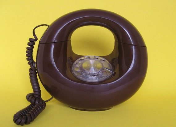 MOD Brown Donut Western Electric Rotary Phone