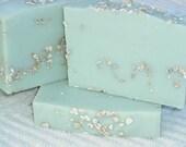 Peppermint-Tea Tree-Oatmeal-Goats Milk  Soap-Cold Process Soap