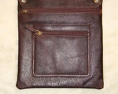 100 Percent Real Leather Sling bag- dark Brown.