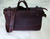 Full grain leather Laptop/ Messenger/ Office bag- Dark Brown