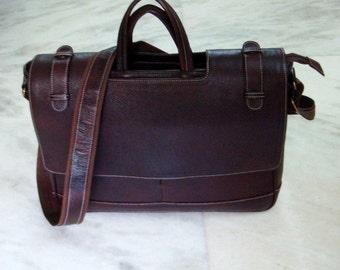 Full grain leather Laptop/ Messenger/ Office bag- Dark Brown
