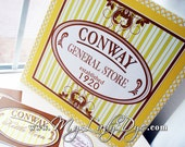 The Conway Collection - General Store Themed Candy Station Sign Birthday Party Sign Wedding Sign - By My Lady Dye