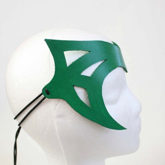 Green Leather Crown - Handmade