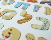 Hebrew Alphabet Pattern- All the Alphabet Letters in Recycled Cereal Box Stencil and Embellishment