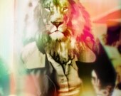 Technicolor Lunch with the Lion PRINT