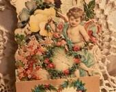 Antique Vintage Three Dimensional Pop Up Valentine VALENTINE GREETINGS