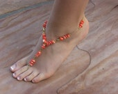 Flaming Coral Barefoot Sandal