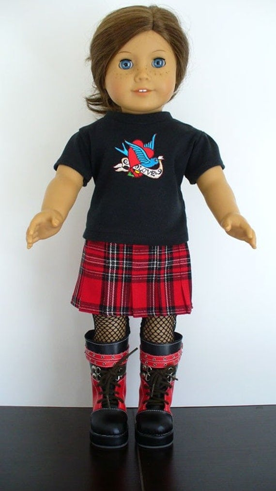 3 Piece Punk Rock n Roll Inspired Outfit American Girl 18