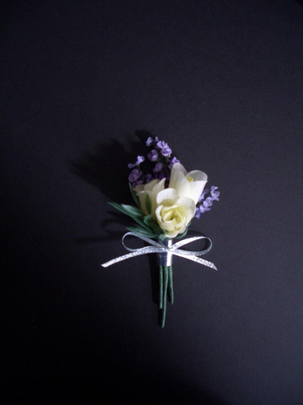 lavender boutonniere-#2