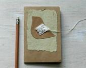 notebook kraft brown bird moleskine journal  doily wings