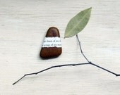 fathers day desk accessory office home river rock brown stone paperweight