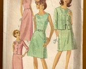 Simplicity 7354 from 1967 A-Line Dress and jacket pattern size 24-1/2