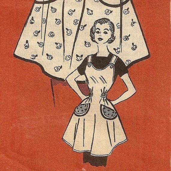 50s Marian Martin apron pattern - UNCUT - Medium 14-16