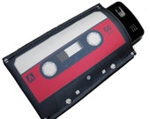 80's Retro Cassette Tape Gadget Case - iPhone iPod iTouch Droid HTC Cell Phones and more - You CHOOSE COLOR
