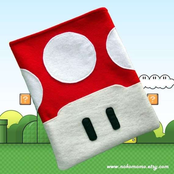 iPad Red Mushroom Case - also fits Kindle DX
