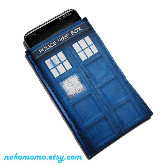 Police Box Case - For iPhone iPod iTouch Droid HTC Cell Phone and more by nokomomo