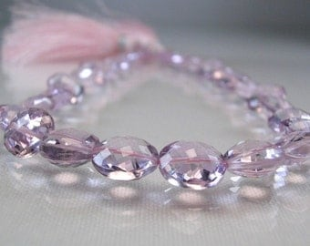 Pink Amethyst Briolette Coins  AAA Pink Amethyst Micro Faceted Beads