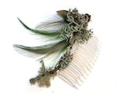 Green Lichen Hair Comb